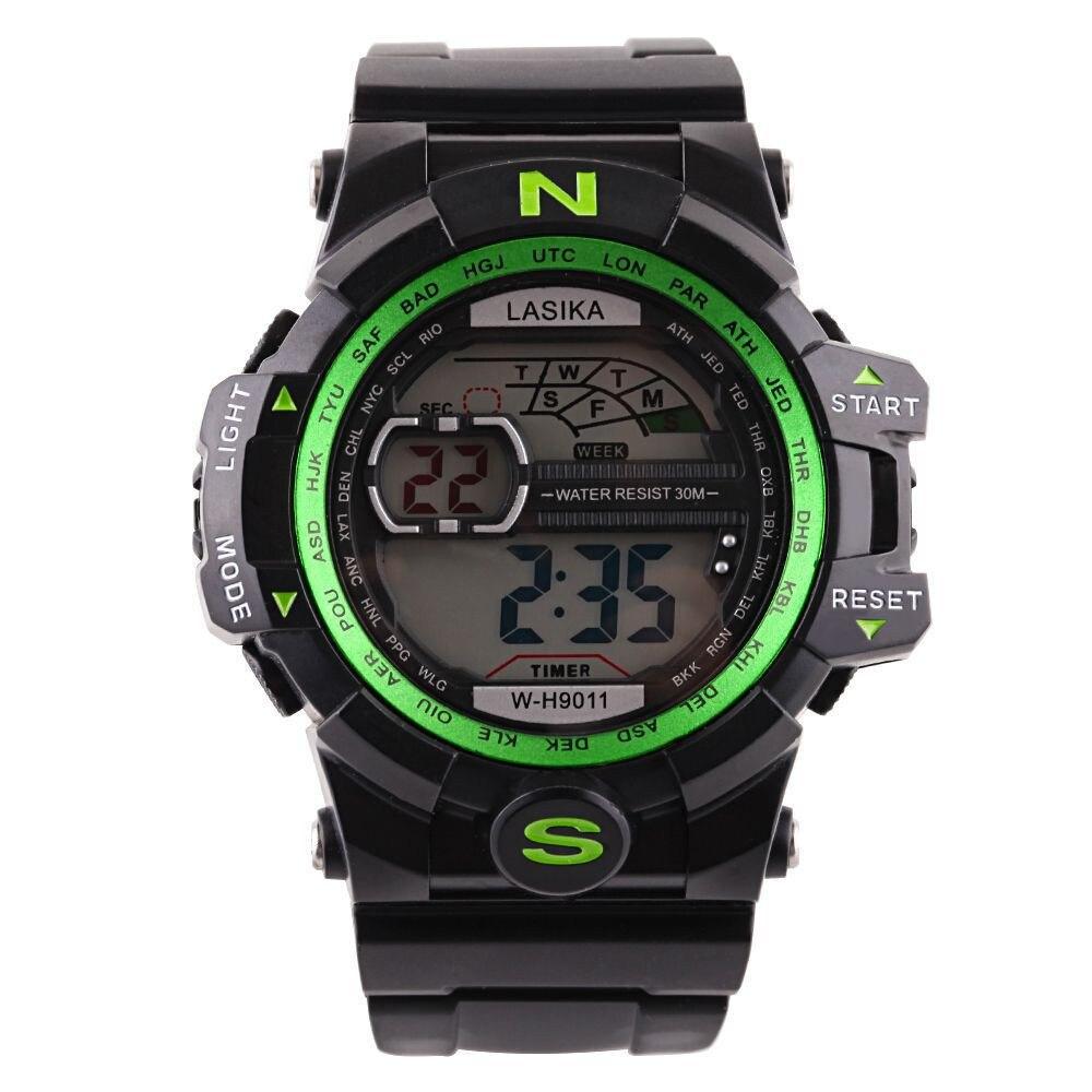 4783585cb54 Novos homens Digital Relógios Esportes Militares Silicone À Prova D  Água  LED Eletrônico Horloge Dames