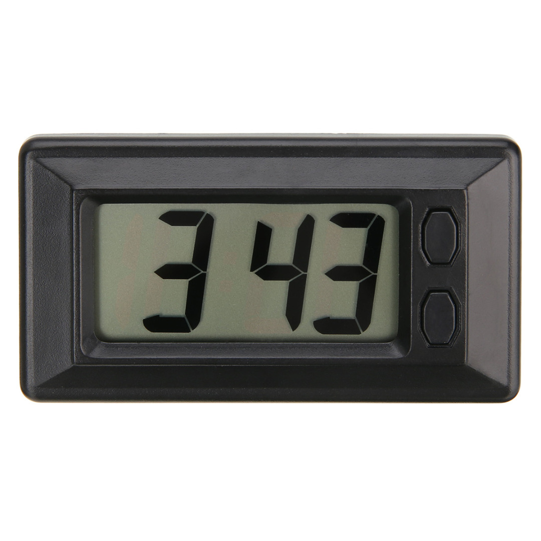 Mini LCD Digital Clock Table Car Auto Dashboard Desk Date Time Calendar Clock Ultra-thin Electronic Watch For Home Office Decor