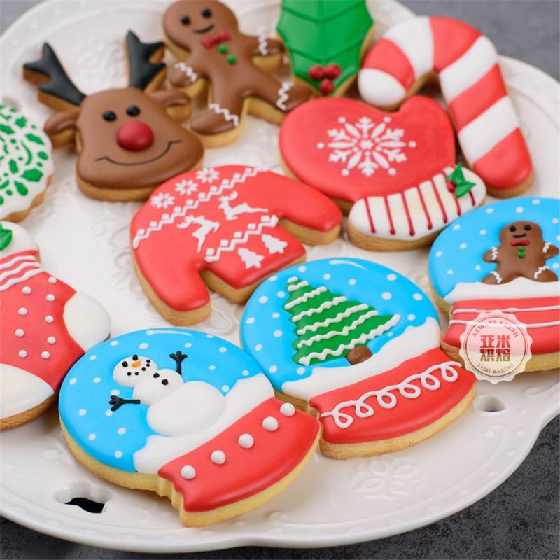 DIY Keuken Bakken Fondant Cake Decorating Gereedschap Kerst Rvs Cookie Cutter Biscuit Mold Sugarcraft Cake Stencil