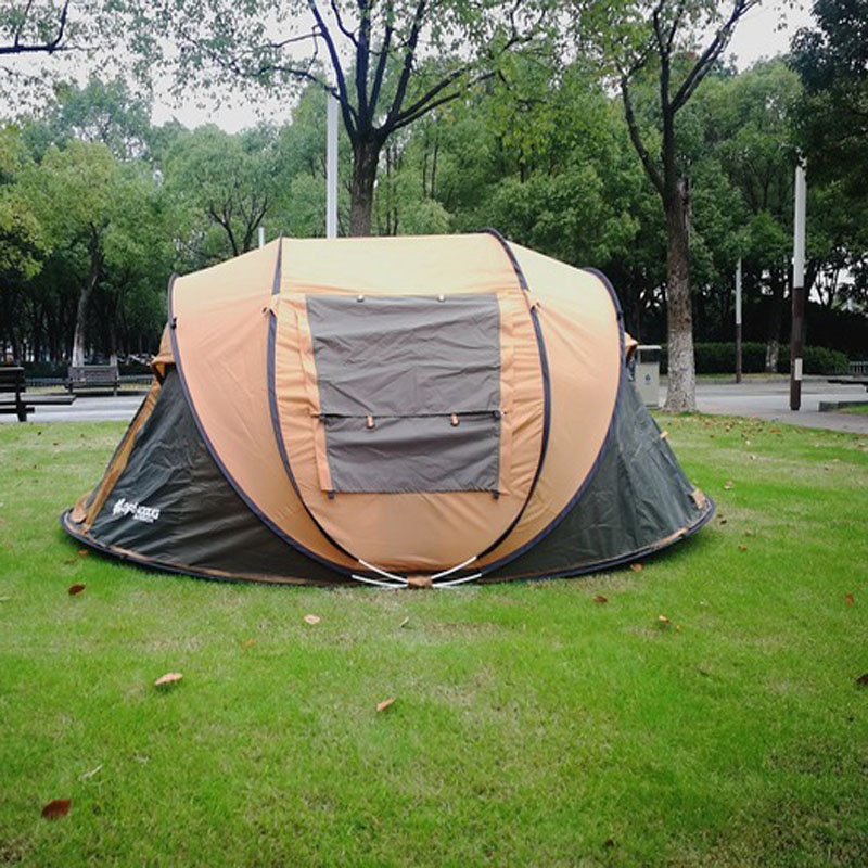 New Multi-person automatic speed open  camping tent Rain and ventilation hand throw tent leisure park tent Палатка