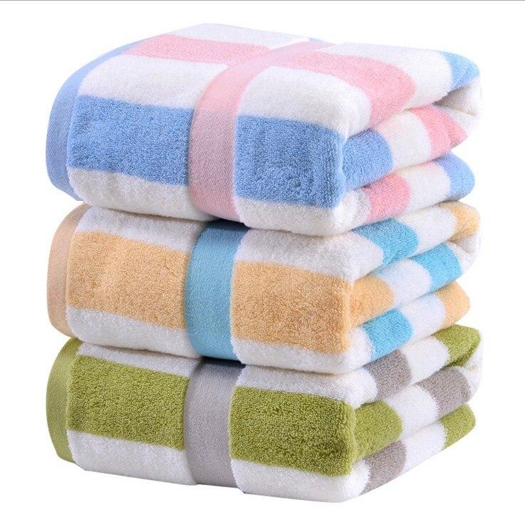 Gestreiften Bad Handtücher Für Erwachsene Baumwolle Große Größe Sommer Strand Handtuch Männer 70x140 Cm Bad Körper Dusche Handtuch
