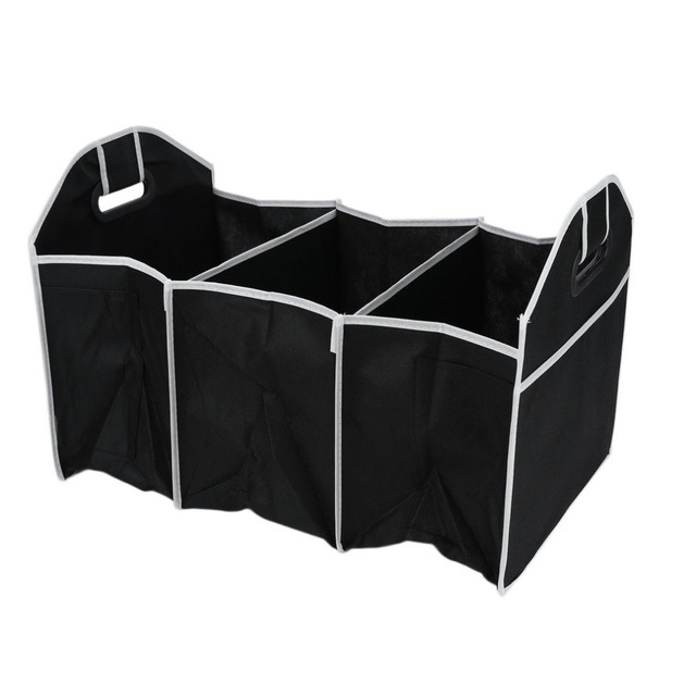 practicalCar Organizer Boot Stuff Food Storage Bags trunk organiser Automobile Stowing Tidying Interior Accessories Foldable 1pc