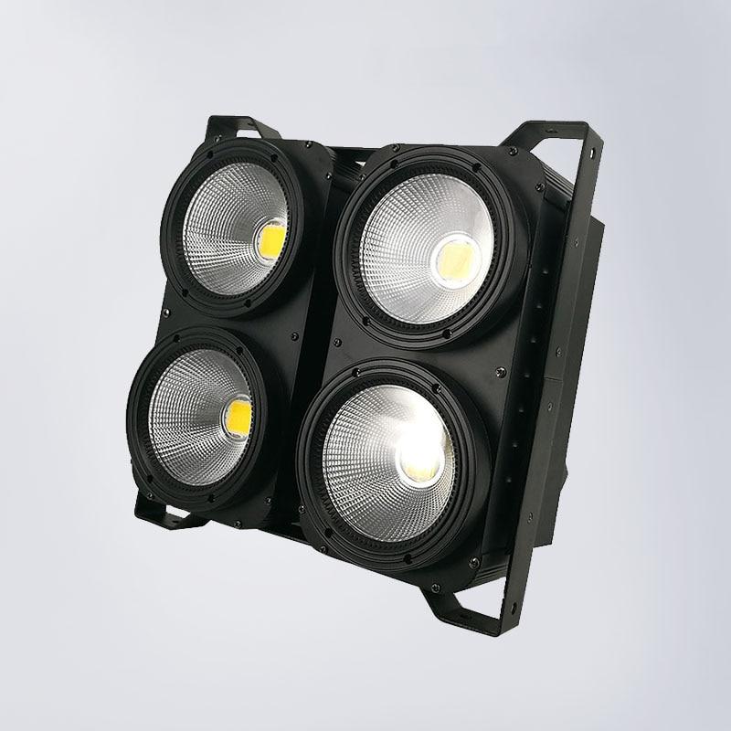 Blinder DMX 4eyes 400W LED COB Blinder Cool White + Warm White Led Audience 2 Channels for show concert event