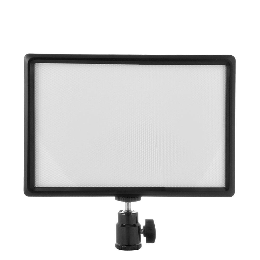 Ultra thin LED Video Light 3200K 6200K Dimmable Photography Lighting Lamp Panel + Hot Shoe Mount for photo studio Camera Shoot