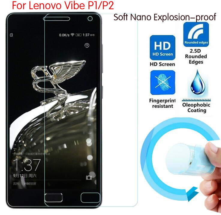 Soft Explosion proof Nano Protection Film Foil For Lenovo Vibe P2 P1 Screen Protector Not Tempered
