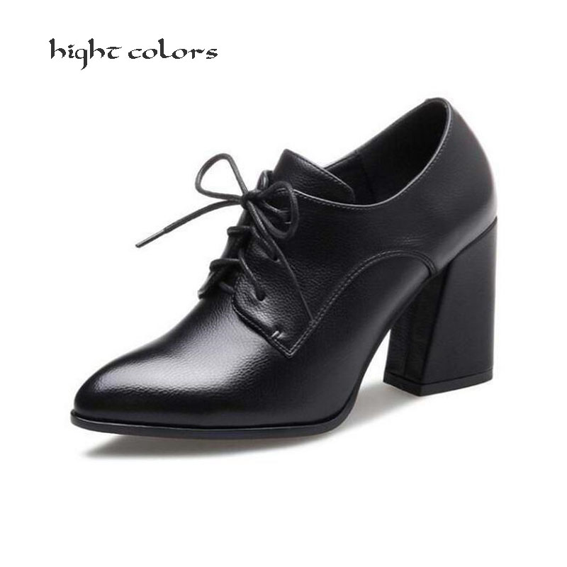 Size 34-39 New 2018 Spring/Autumn Gladiator Office Womens Pumps Shoes for woman high heels Red Black Lace Up wedding Shoes HC434 new arrival spring and autumn red pearl wedding shoe up heel platform shoes woman party shoes luxury handmade shoes size 34 39