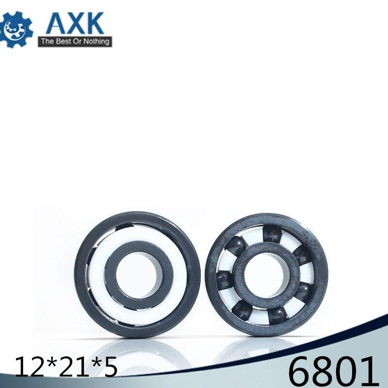 6801 Full Ceramic Bearing ( 1 PC ) 12*21*5 mm Si3N4 Material 6801CE All Silicon Nitride Ceramic 6801 Ball Bearings6801 Full Ceramic Bearing ( 1 PC ) 12*21*5 mm Si3N4 Material 6801CE All Silicon Nitride Ceramic 6801 Ball Bearings