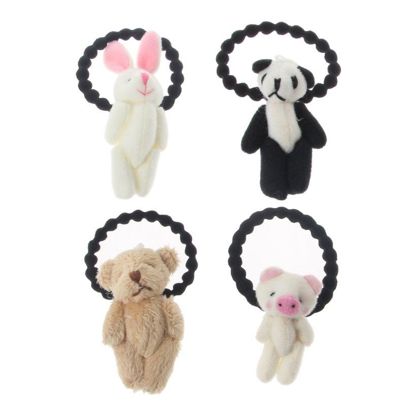 1 PCS New Lovely Plush Panda Children Hair Ropes Elastic Rubber Hair Band Girls Hair Accessories Baby Headwear Kids Headdress
