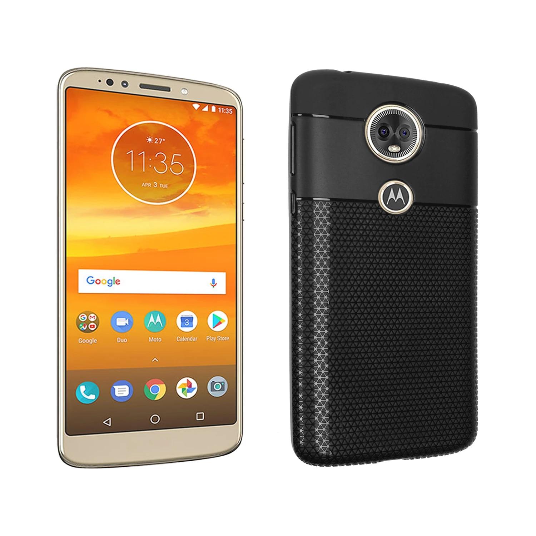 For Motorola Moto E5 PlusE+ Case Luxury Slim Triangular Grid