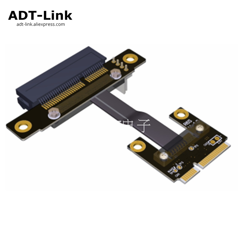 32Gbps Mini PCI-e mPCIe WAN WiFi To PCIe x4 PCI-E 4x Riser adapter cards Gen3.0 Mini-PCIe Ribbon cable Mini pci e for WIFI card 2017 pci e 4x express slot riser card flexible ribbon cable adapter pcie