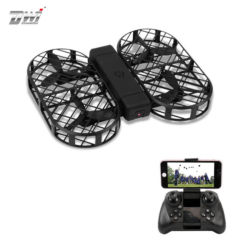 Dwi Dowellin D7 WIFI FPV With 0.3MP 2MP Camera High Hold Mode Foldable Arm RC Drone Quadcopter VS VISUO HS809HW Eachine E58 jjrc h49 sol ultrathin wifi fpv drone beauty mode 2mp camera auto foldable arm altitude hold rc quadcopter vs e50 e56 e57