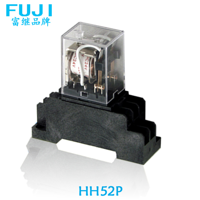 Relay DC24V 2 loads HH52P The general power relay with base socket on car relay wiring, horn relay wiring, control relay wiring, ac relay wiring,