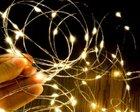 10M 33Ft Micro 100 Leds Silver Copper Wire LED String Light Fairy Lights Includes Power Adapter