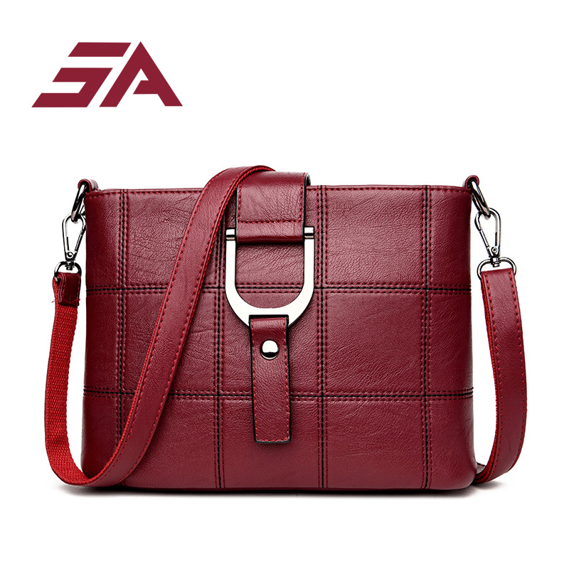 SA fashion Plaid Handbags Women Bags Designer Brand Female Crossbody Shoulder Bags For Women PU Leather Sac a Main Ladies Bag women tote bag designer luxury handbags fashion female shoulder messenger bags leather crossbody bag for women sac a main