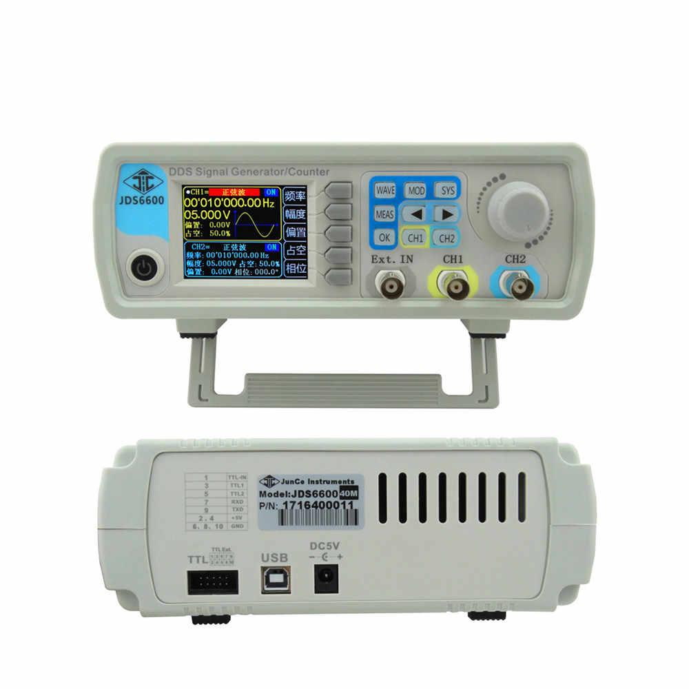 JDS6600 Loạt 15 mhz Điều Khiển Kỹ Thuật Số Dual-kênh DDS FUNCTION Chức Năng Tín Hiệu Máy Phát Điện tần số meter Tùy Ý sine wave Dạng Sóng 36% off