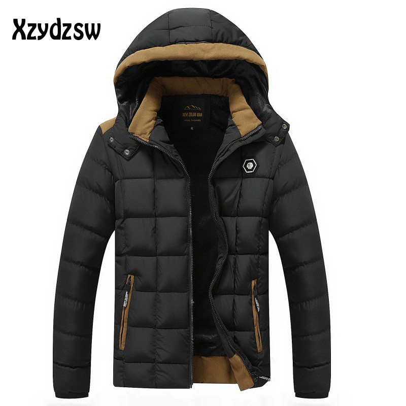New Brand Clothing Down Jacket Men Top Grade Thick Winter Jacket Men Parka Business Casual Men Winter outerwear Coat Men 2016 new high quality brand men winter cotton down jacket coat parka clothing men and women hooded warm outerwear overcoat