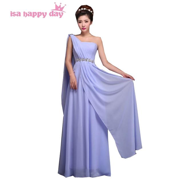 Light Blue Lavender Burgundy One Shoulder Ladies Evening Dress Xxxl