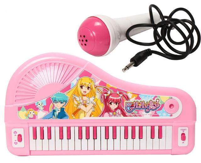 No pouco de magia de fadas flor crianças recarregável brinquedo educacional de piano/pouco de magia de fadas menina brinquedos