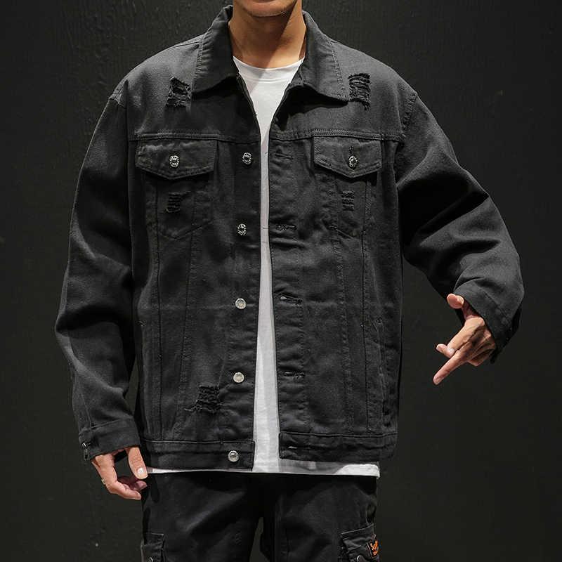 Rahat Ince Erkek Denim Ceket Artı Boyutu S-5XL Bombacı Ceket Erkekler Yüksek Kaliteli Kovboy erkek kot Ceket Chaqueta Hombre