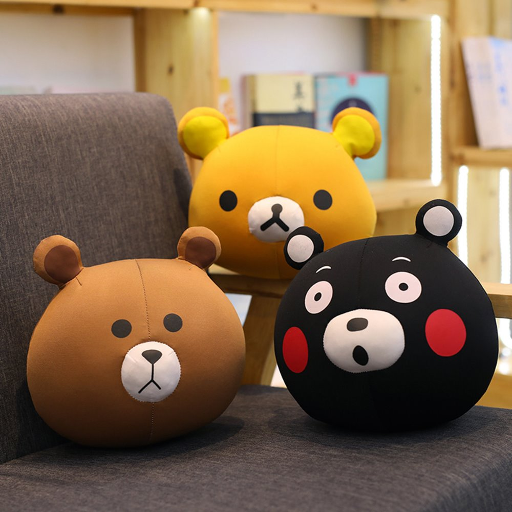 Dolls & Stuffed Toys Stuffed & Plush Animals The New Kawaii Brown Bear Summer Air Conditioner Quilt Plush Toys Pillow Afternoon Nap Blanket Hot Sale And For Free Shipping High Safety