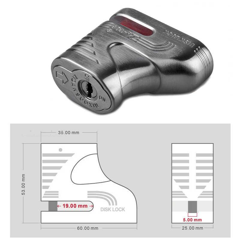 5 Mm Pin Veison DX2-1 Moto Bersepeda Logam Kunci Cakram Sepeda Anti Theft Rem Gembok Sepeda Candado Moto