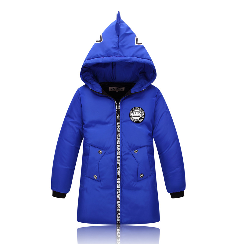 2017 Children Winter Thick Coats Cartoon image Long section boys cotton-padded jacket,Kids duck down cotton coat 4-10yrs children winter coats jacket baby boys warm outerwear thickening outdoors kids snow proof coat parkas cotton padded clothes