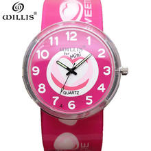 WILLIS Brand Original Unique Design Women Wristwatch Wide Big Dial Casual Silicone Strap Quartz Watch Women Sport clock Watches