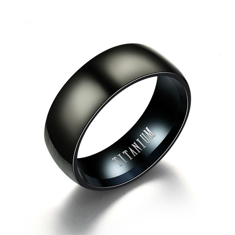 Symbol Black Male Fashion Titanium Steel Ring men Ornaments boho jewelry rings for women vintage CHA544 jiezh