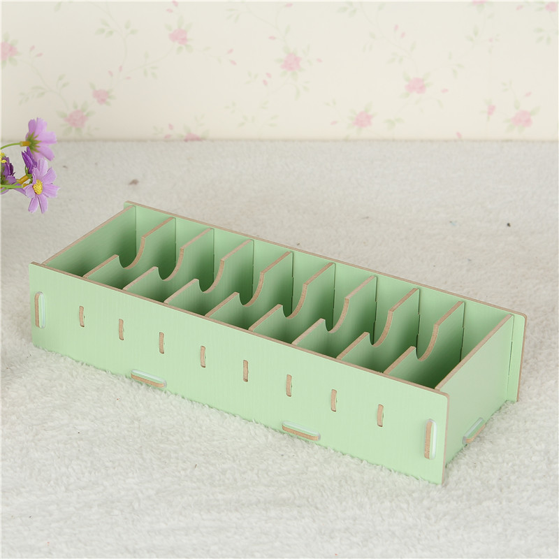 Creative business card box case card frame DIY storage box office stationery desk organizer