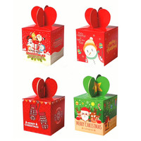 50pcs Lot Candy Box Christmas Party Decoration Cookies Biscuits Cake Gift Boxes Bags Xmas Party Favors