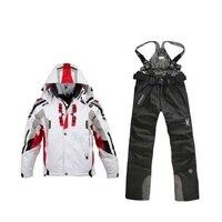 Зимний Лыжный Куртки и лыжи Штаны Спорт на открытом воздухе Мужская Водонепроницаемый и ветрозащитный лыжный костюм Мужская двойной борт л