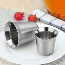 Нержавеющая сталь кофе Nescafe с двойными стенками термокапсула кофейная чашка кофейная кружка Nespresso чашки Эспрессо чашка