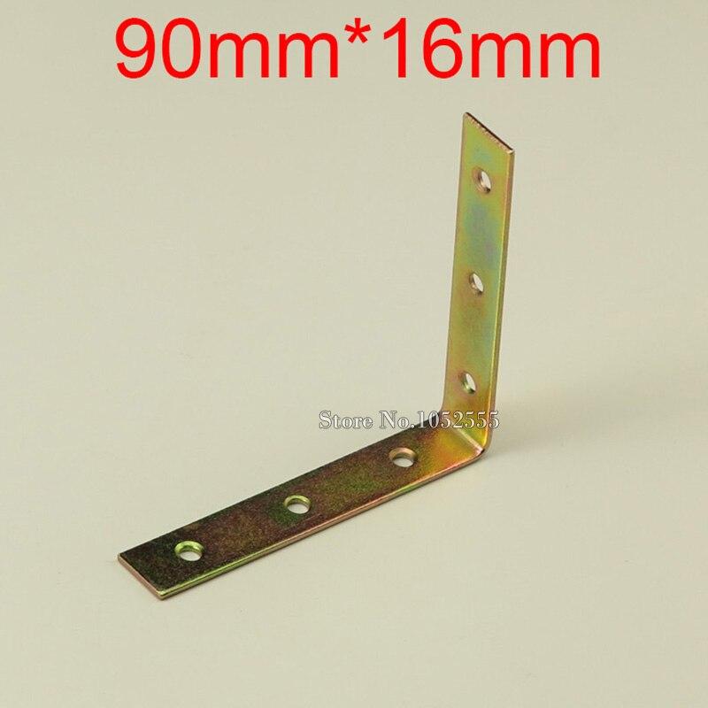 10PCS 90*16mm metal furniture corners bracket L sh...