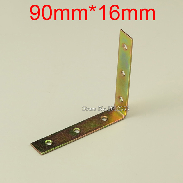 10PCS 90*16mm metal furniture corners bracket L shape angle bracket ...