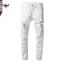 High Quality Men Jeans Summer Straight Slim Fit white pants cotton Denim Pants Trousers Classic Cowboys Young Man Jeans