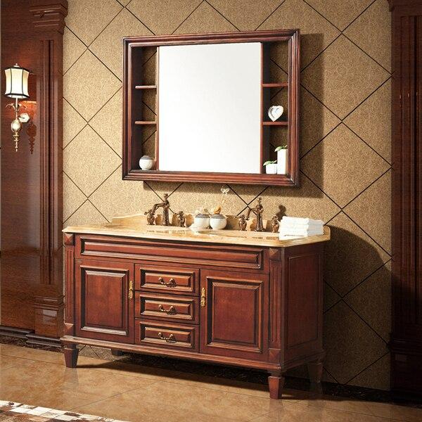 Teck couleur ashtree bois massif armoire et miroir, Grain de bois ...