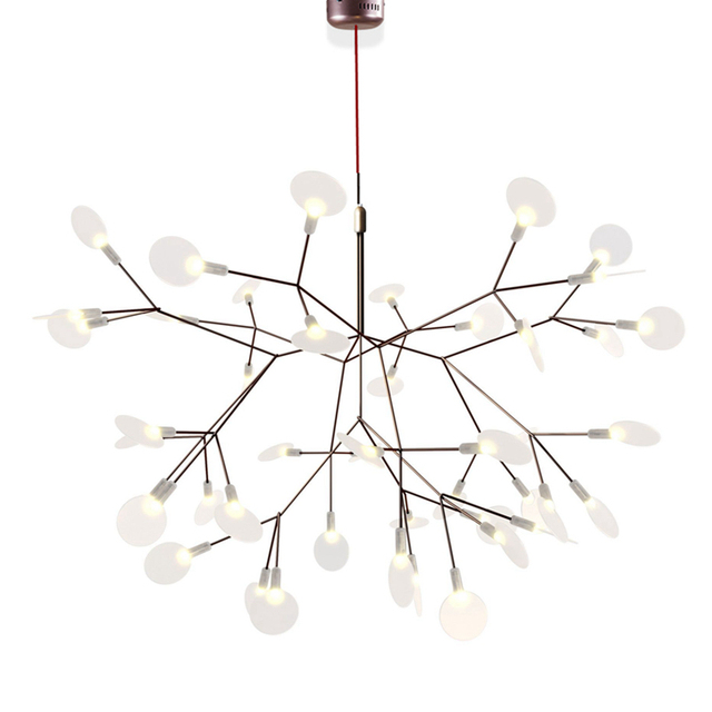 Creative tree branch led pendant lights wireless droplamp Modern PMMA lampshade natural structure technique of conductive layers