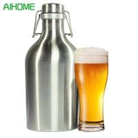 Stainless Steel Beer Growler 1 5L Secure Swing Top Lid Craft Beer Bottle Saver BPA Free