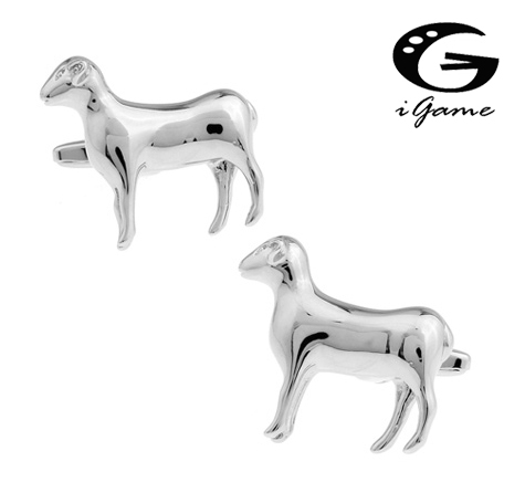 IGame New Arrival Men's Sheep Cufflinks Novel Animal Design Copper Material Free Shipping