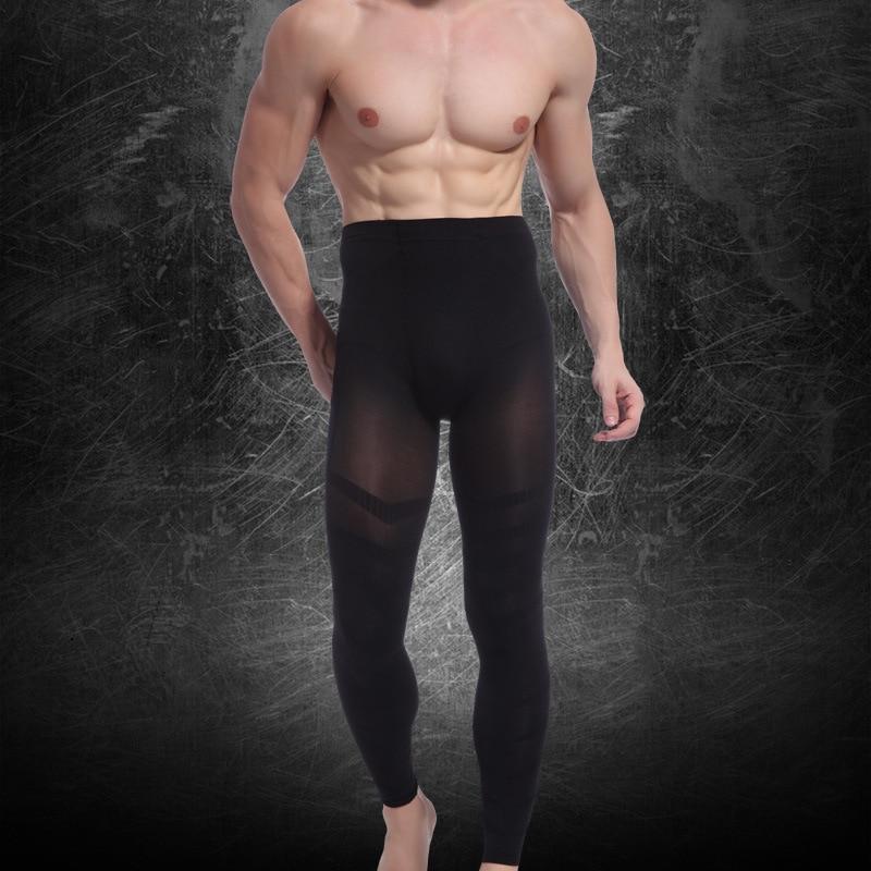 Men's Thin Carry Buttock Fashion Thin Leg Ninth Pants Slimmping Pants Body Shaper Tighten The Dewlap Underwear Shapewear