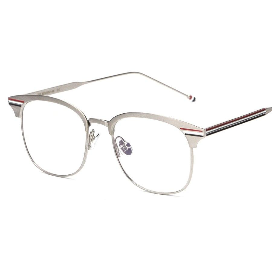 Luxus Marke Frauen Brillengestell Metall Platz Gold Frame Brille ...