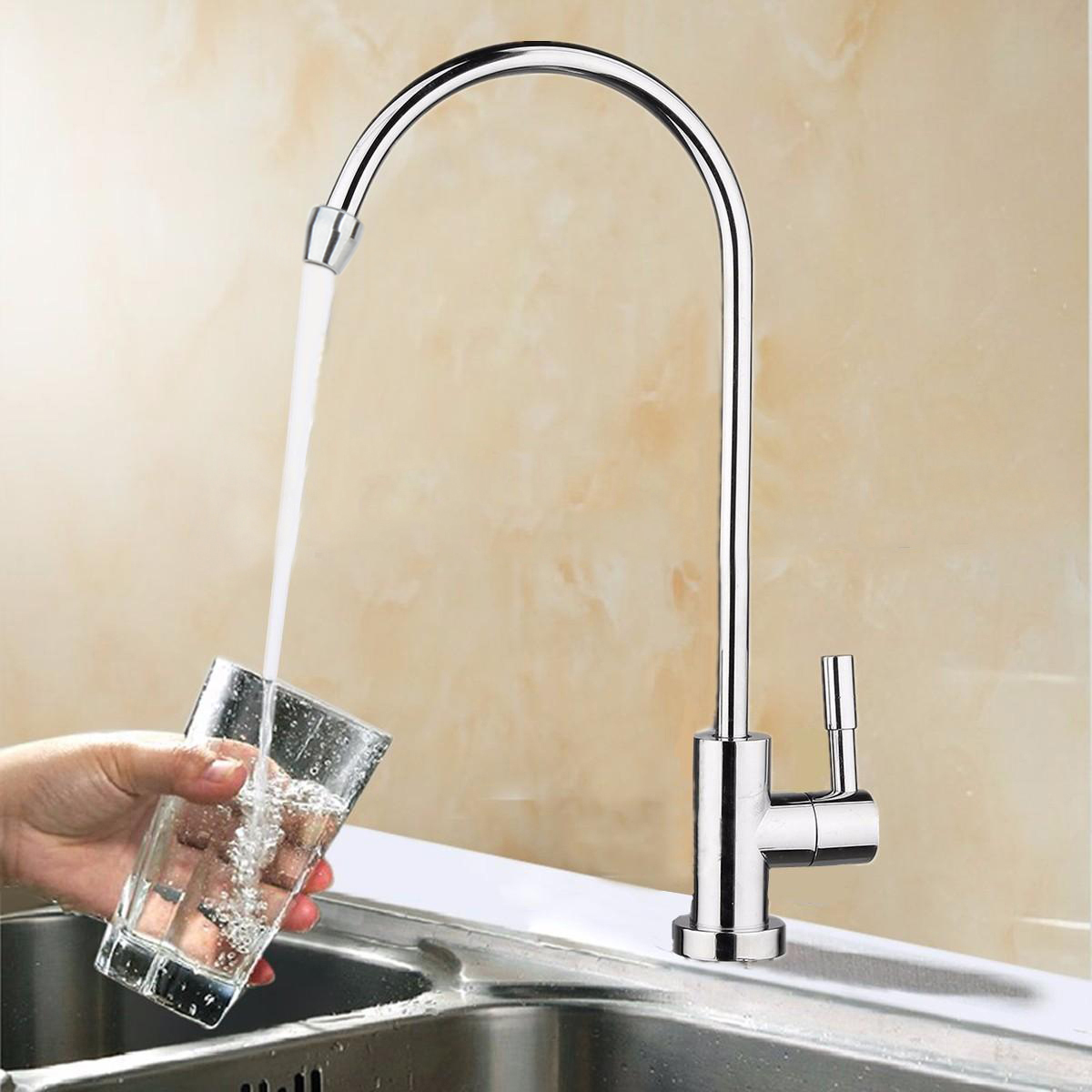 New 360 Degree Chrome Drinking Water Faucet 1 4 Quot Stainless