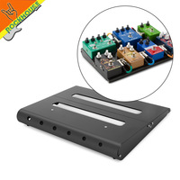 Caline Portable Alloy Guitar Effects Pedal Board Pedalboard RockBoard Pedal Train With Waterproof Oxford Hand Bag