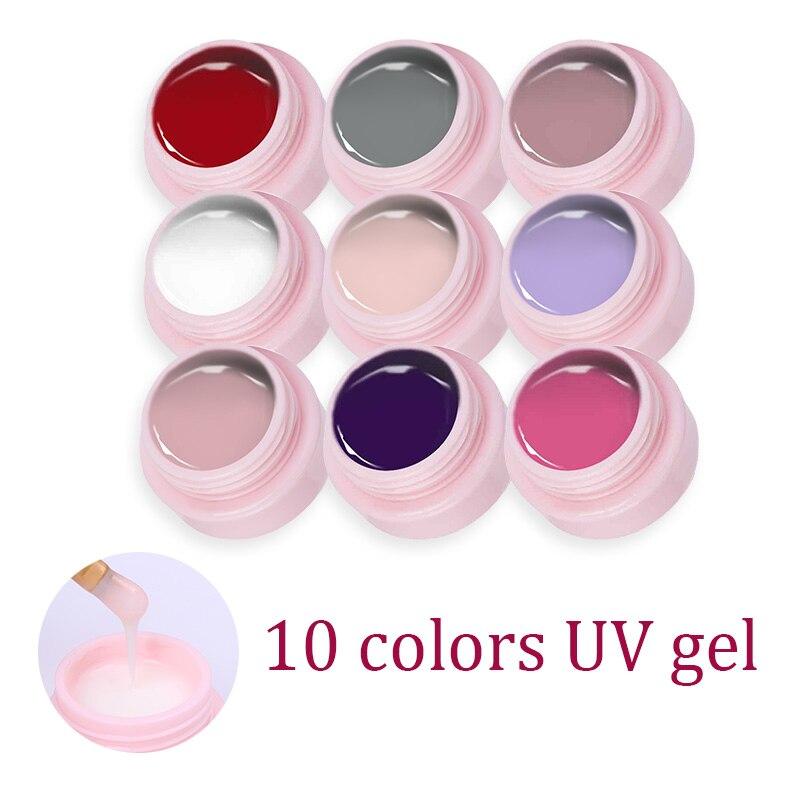 UR SUGAR 2 Pcs White Nail Gel Set Color Soak Off Gel Semi transparent Opal Jelly