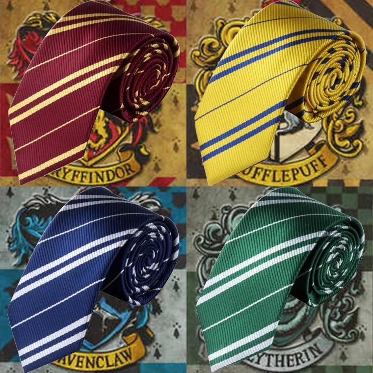 Adult Ties Movie Harry Hogwarts Student Film Wizard Halloween Cosplay Hufflepuff Ravenclaw Slytherin Gryffindor