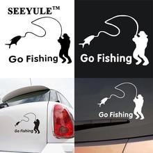 1pc SEEYULE Go Fishing Car Stickers Styling Vinyl Decal Truck Boat Window Sticker Car Acessories Decoration For VW Lada Toyota