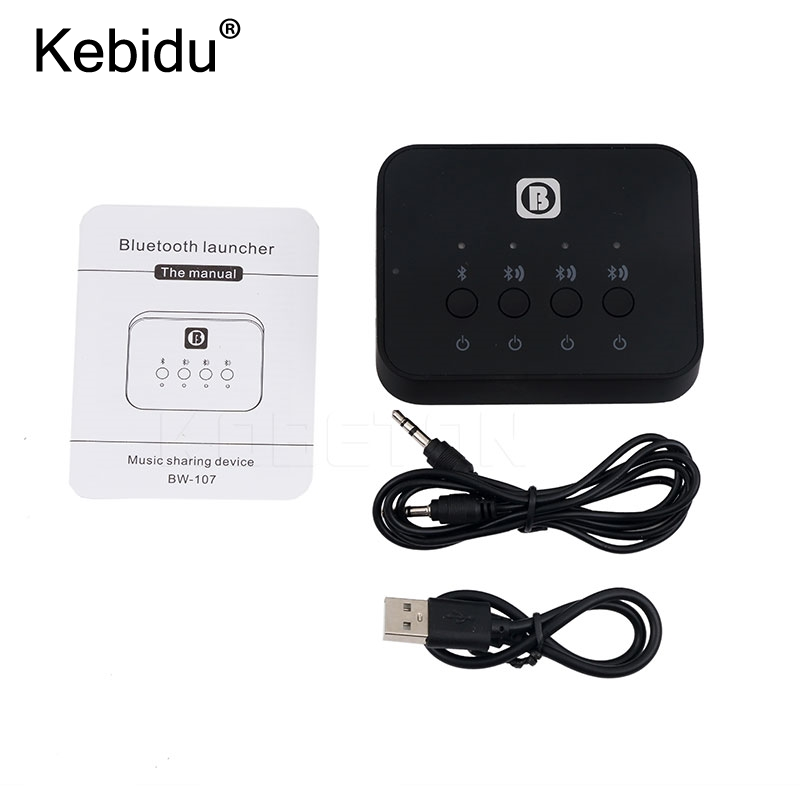 Tragbares Audio & Video Kebidu Bw-107 Bluetooth 4,0 Stereo Audio Splitter Adapter Music Receiver Sharing Gerät Funktion Für Kopfhörer Für Handy Unterhaltungselektronik