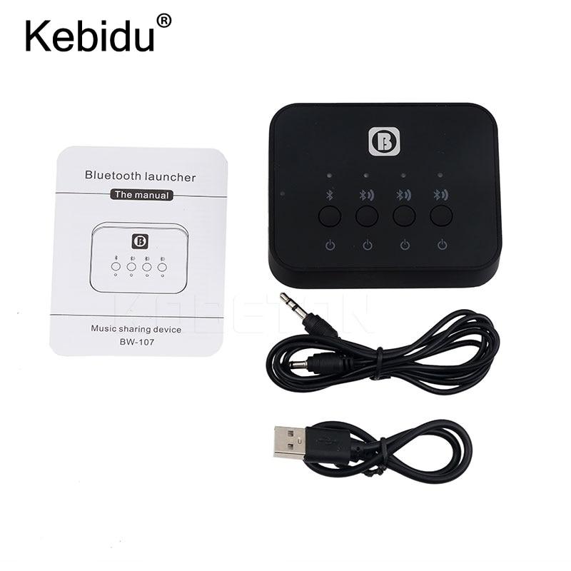 Unterhaltungselektronik Kebidu Bw-107 Bluetooth 4,0 Stereo Audio Splitter Adapter Music Receiver Sharing Gerät Funktion Für Kopfhörer Für Handy