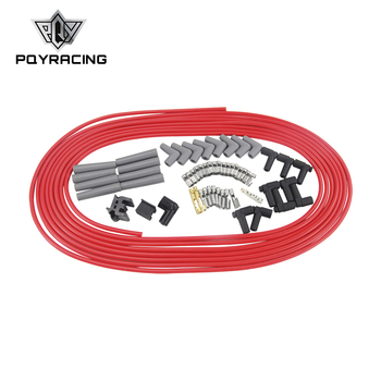 PQY - 10m / set Spark Plug Wires Spiral Core 8.5mm Red For Chrysler Hemi Pro Stock For Ford Dodge Set PQY-SSC01