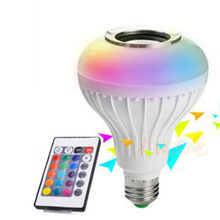 20 LEDs Bluetooth Music Bulb Lamp Wireless Light Bulb with Stereo Audio Smart 12W E27 Changing Lamp Energy Saving(China)
